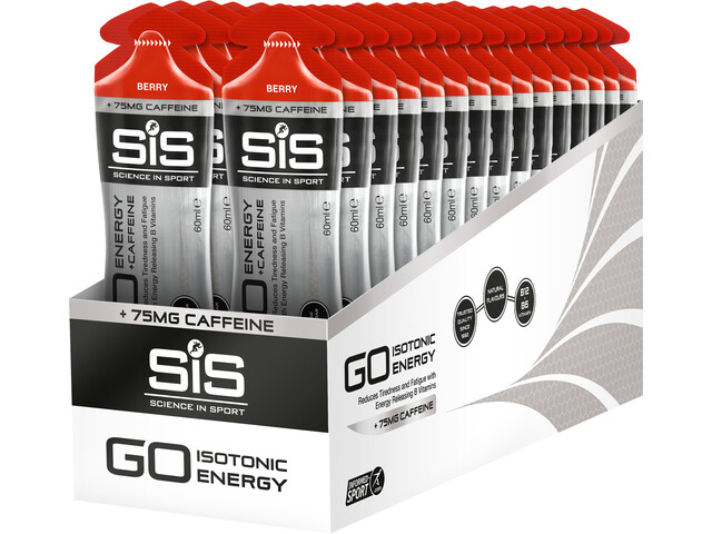 SiS GO Plus Caffeine Gel Box 30x60ml, Berry